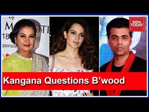 Why Are Shabana Azmi, Karan Johar Quiet On #MeToo Movement? Asks Kangana Ranaut