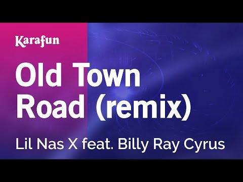 Old Town Road (remix) - Lil Nas X feat. Billy Ray Cyrus | Karaoke Version | KaraFun