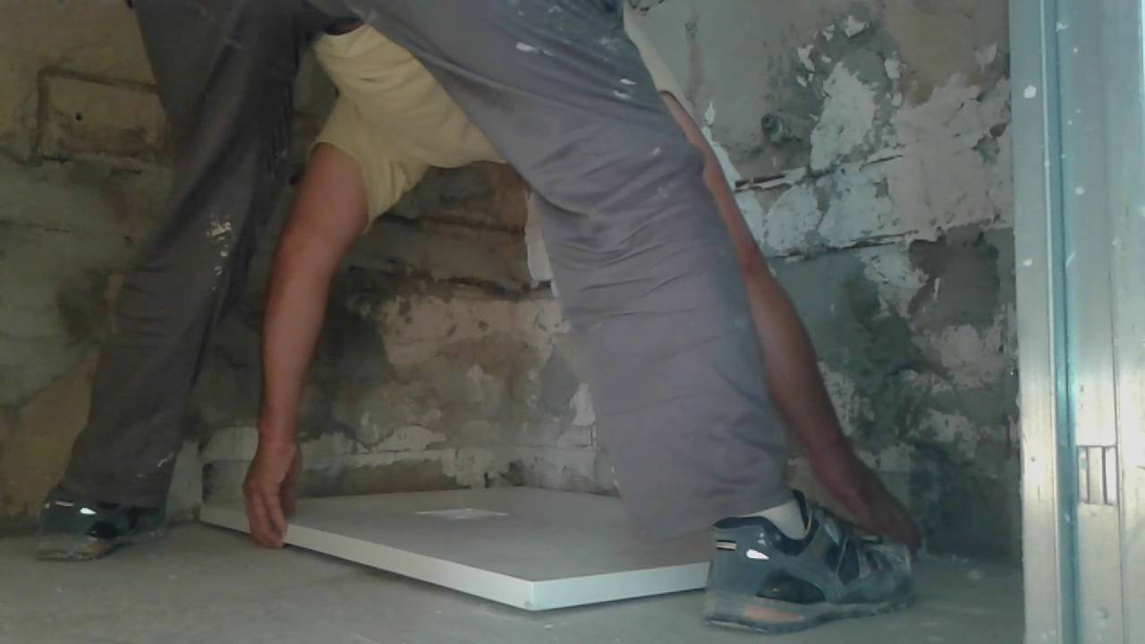 Cómo instalar plato de ducha de resina.✅ - YouTube