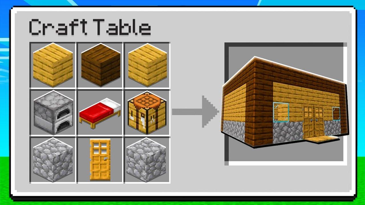 Download eu consegui craftar uma casa no Minecraft com 1 BLOCO!!