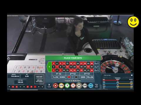 Playing RED And BLACK On A Live Roulette From An Online Casino.