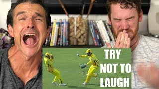 Funny Cricket Moments REACTION! I Try not to Laugh