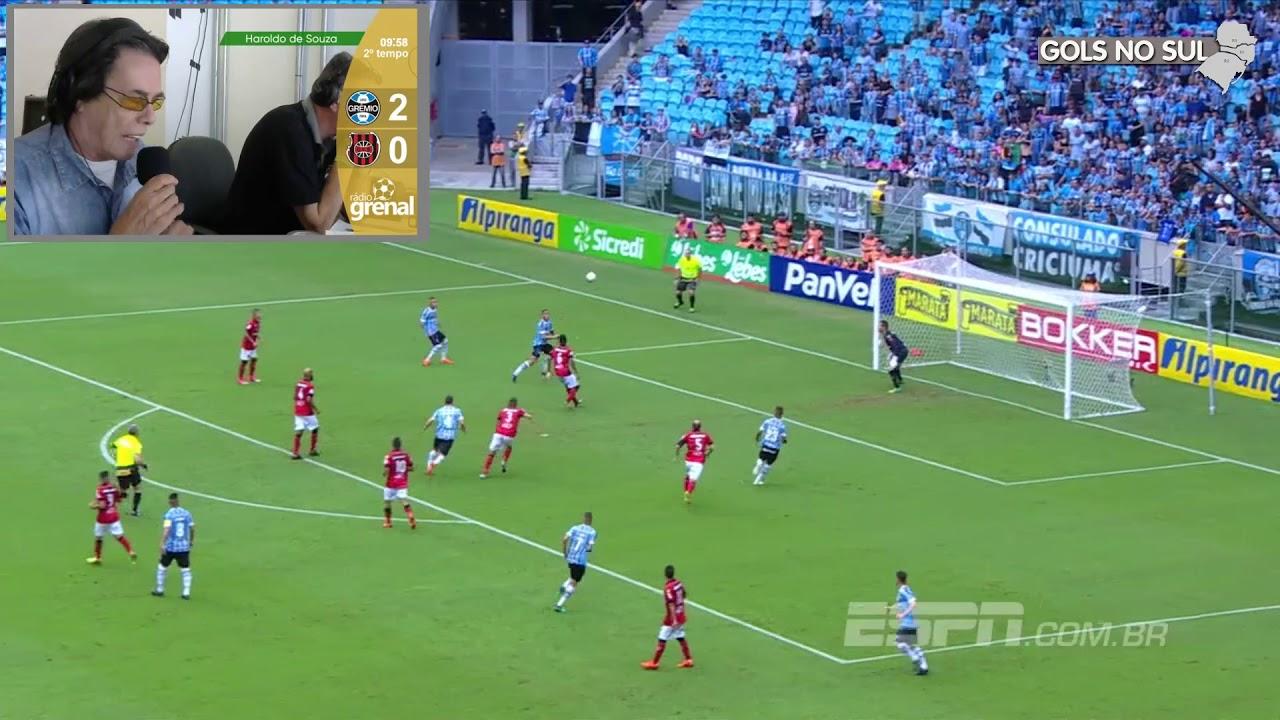 Grêmio 4 x 0 Brasil de Pelotas - Rádio Grenal - 01 04 2018 - YouTube f4d2f92d95394