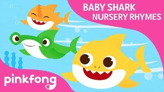 Swimming Swimming | Baby Shark Nursery Rhyme | Pinkfong Songs for Children