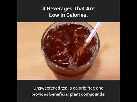 4 Beverages That Are Low In Calories-Easy Ways To Lose Weight