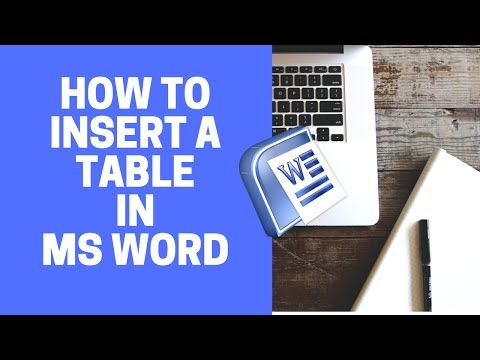 MS WORD Tutorial  How to Insert a Table in MS WORD   Microsoft Word Tutorial