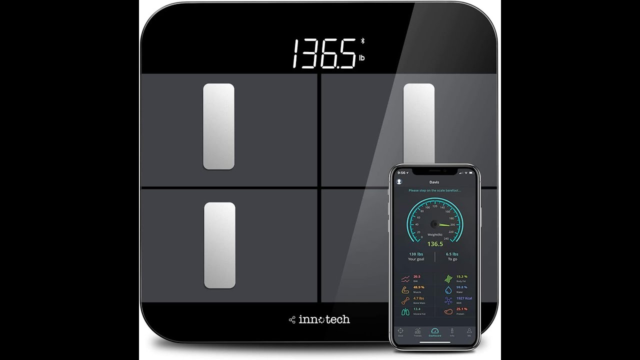 Review on Innotech Smart Bluetooth Body Fat Scale Digital Bathroom Weight  Weighing Scales Body - YouTube