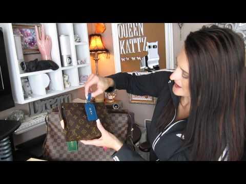 Louis Vuitton luggage tags used as handbag charms ^,,^