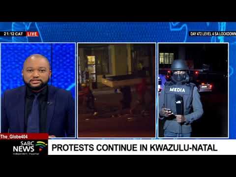 Protests continue in KwaZulu-Natal, Joburg CBD