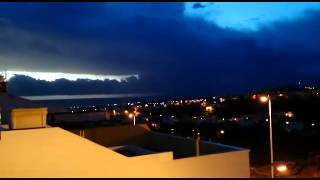 Tormenta frente al aeropuerto de Gran Canaria
