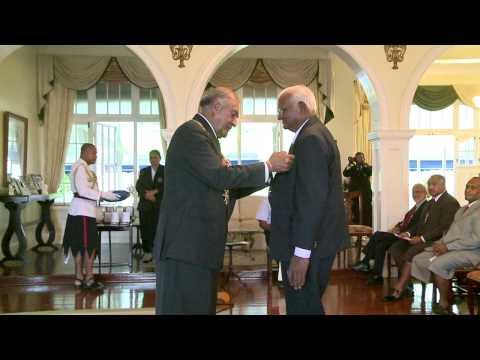 Fijian President  H.E Ratu Epeli Nailatikau officiates Investiture Ceremony