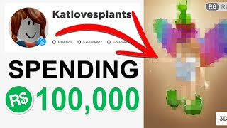 Spending 100,000 Robux MY FIRST TIME EVER Playing Roblox ..