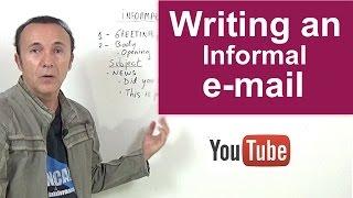 INGLÉS. Writing an informal e-mail/letter.