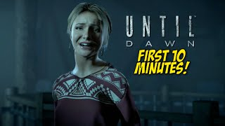 UNTIL DAWN! [#01] [FIRST 10 MINUTES] [GAMEPLAY!]