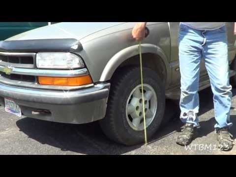 Chevy Blazer lift, Adjusting The Torsion Bars to level the Blazer