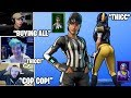 STREAMERS REACTS TO New *THICC* Referees & NFL Football Skins, Gliders & Pickaxe! (Fortnite Moments)