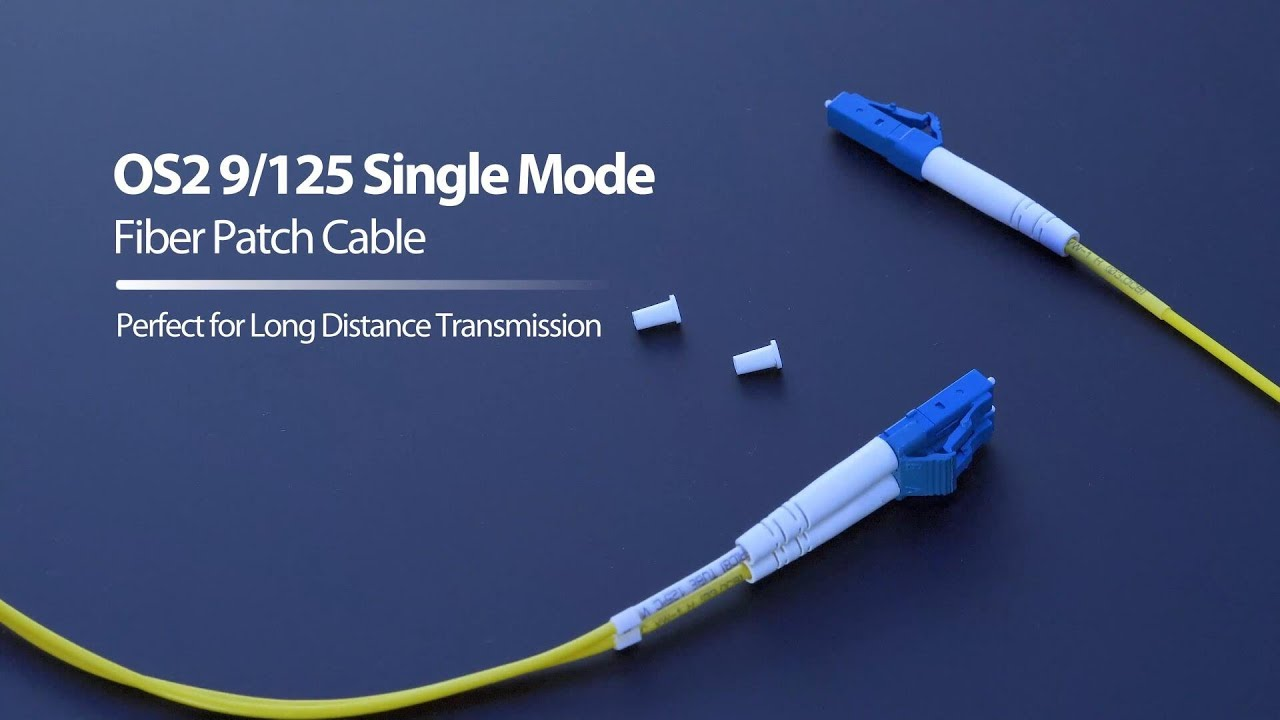 1m (3ft) LC UPC to LC UPC Duplex OS2 Single Mode PVC (OFNR) 2 0mm Fiber  Optic Patch Cable