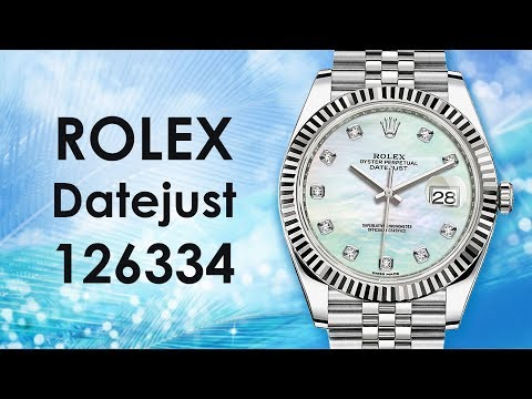 Rolex Datejust 41 Diamond Mother Of Pearl Dial Men's Watch 126334