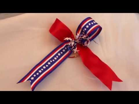 How to make a Patriotic Cheer Bow in minutes!