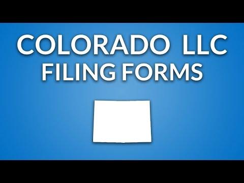 Colorado LLC - Formation Documents
