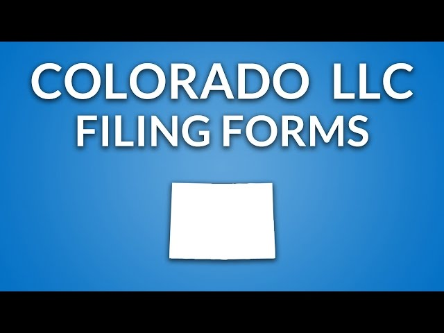 Colorado Llc Forms Documents