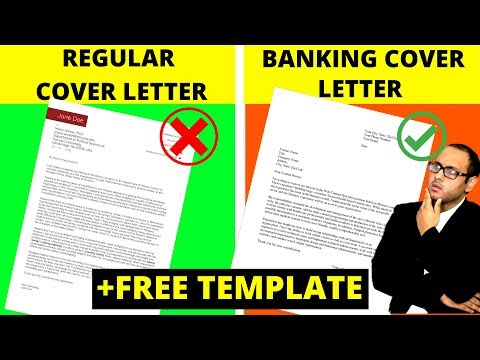 Investment Banking Cover Letter + FREE Template