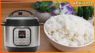 Nấu Cơm Dẻo Ngon Bằng Nồi Instant Pot - How To Cook Rice in Instant Pot - ENGLISH CAPTION