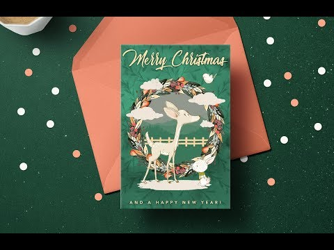 Create a Christmas Greetings Card in Adobe Photoshop