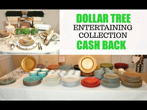 Exclusive Dollar Tree Haul Must Haves | Entire Dish Collection & Get Cash Back At DT