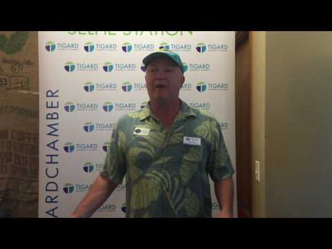 Dennis gives a shout out to the Tigard Chamber of Commerce.