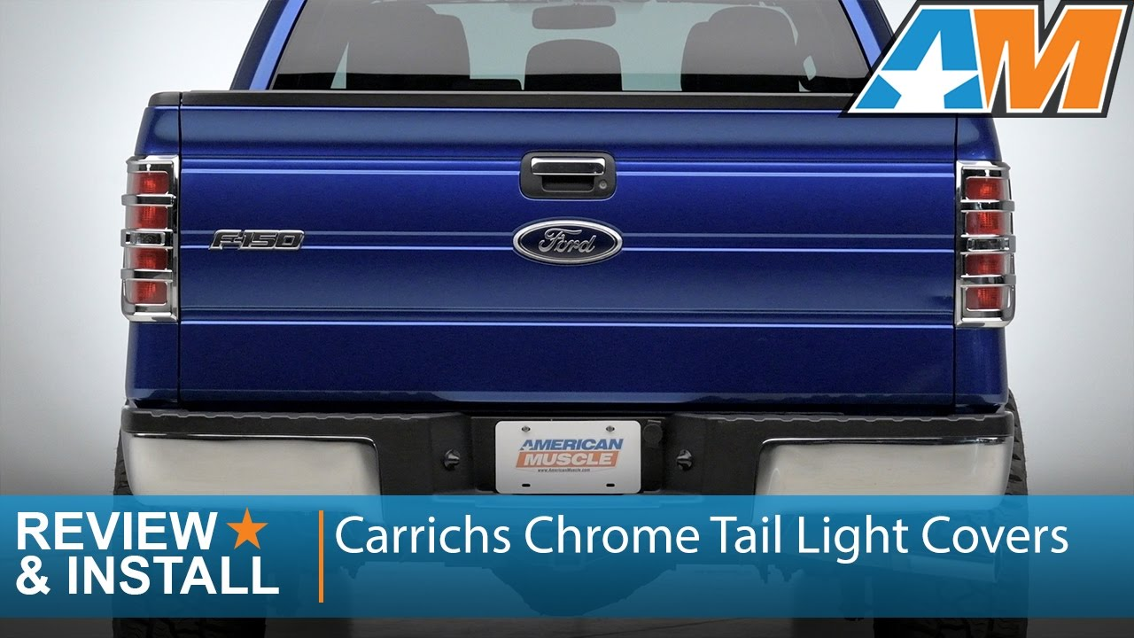 ABS Chrome Trim Bezel Tail Light Lamp Covers For 2009-2014 FORD F150 F-150