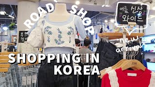 Shopping in Korea Road Shops Edition Summer Fashion Try On Clothes KOREA VLOG