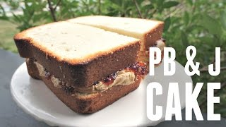 GIANT Peanut Butter & Jelly Sandwich CAKE - You Made What?!