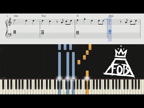 Fall Out Boy - Champion - Piano Tutorial + Chords