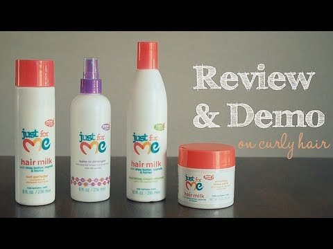Just For Me Hair Milk Demo Review On Curly