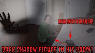 dark shadow person in our home