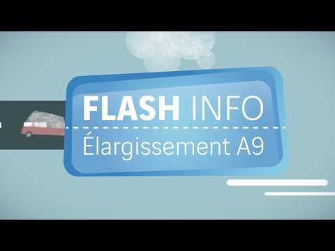 Flash info élargissement A9 Perpignan – Le point sur les travaux, mai 2018