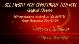 ALL I WANT FOR CHRISTMAS IS YOU ZUMBA ORIGINAL CHOREO DEC 2016