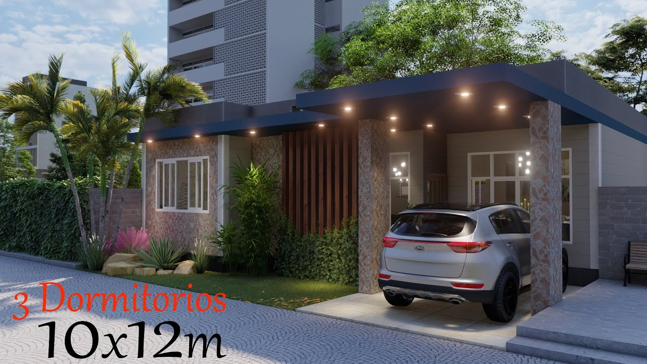 CASA 10 X 12 M 3 Habitaciones / House 10 X 12 M