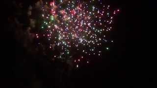 8月15日に広島県福山市で行われた花火大会 3)星降る夜空に願いを込めて.
