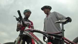 Dan learns to ride with Diepsloot Mountain Bike Academy
