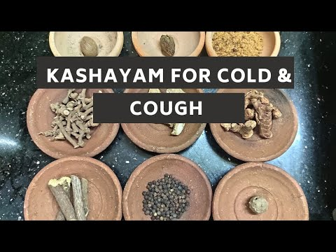 Kashayam for cold, cough & fever-natural home treatment/ home remedy for cold, cough & fever