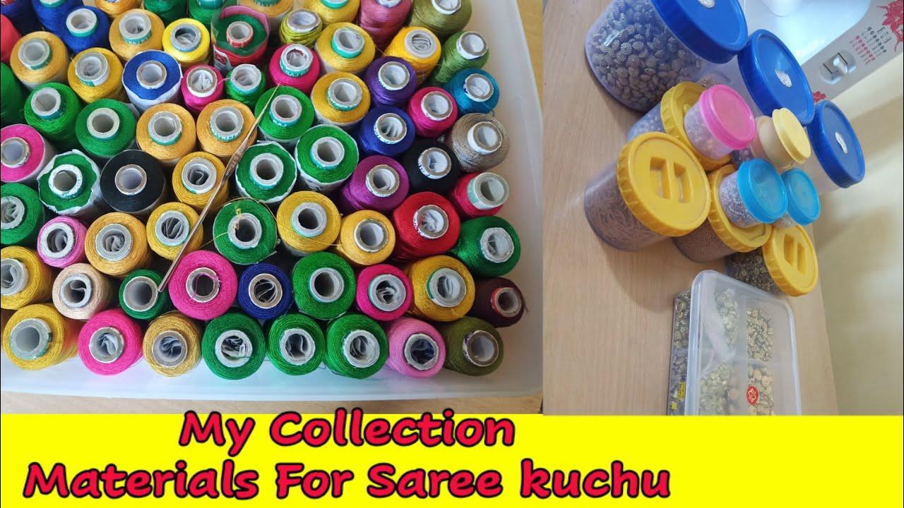 saree kuchu materials / ಸೀರೆ ಕುಚ್ಚು ಮೆಟೀರಿಯಲ್ / My Collection