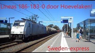 LNA 186-183-0 komt met de Sweden-express door station Hoevelaken!!