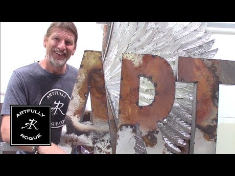 How to make Industrial Metal Letters
