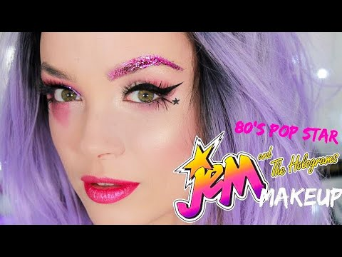 80's Pop Star Makeup Tutorial | Jem & the Holograms | Halloween | CINDYLOUBINDI