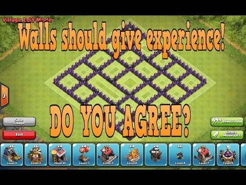Clash of clans: Walls should give you experience! Do you agree?