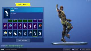 Fortnite Aerial Assault Trooper Skin Showcased with 25+ Dances/Emotes