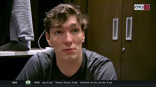 Cedi Osman confident in his shot, focused on fixing transition defense | CAVS-WOLVES POSTGAME