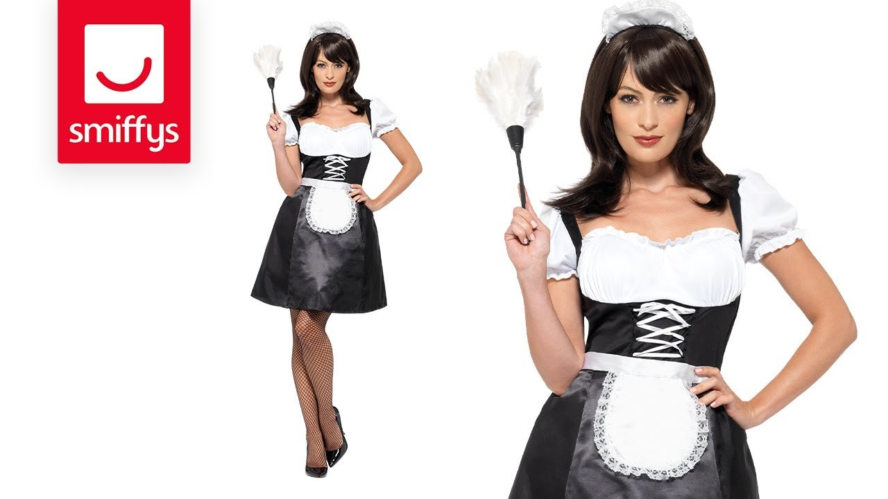 French Maid Costume with Dress  sc 1 st  YouTube & French Maid Costume with Dress - YouTube